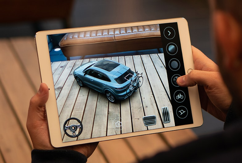 UI UX design for augmented reality car apps.